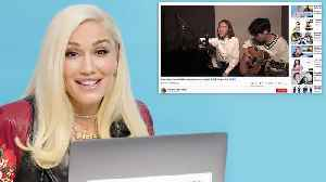 Gwen Stefani Watches Fan Covers on YouTube [Video]
