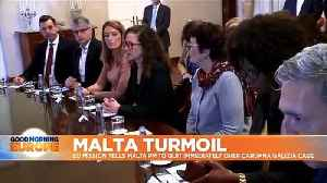 Eggs thrown at Malta PM Muscat as European delegation orders him to resign immediately [Video]
