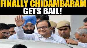 News video: Chidambaram gets bail in the Inx Media Case, BJP says Cong celebrating corruption