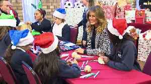 News video: Melania Trump visits Salvation Army centre in London