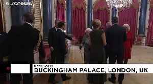 Queen Elizabeth hosts NATO leaders at Buckingham Palace as protesters gather outside [Video]