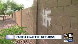 Racist, obscene graffiti causing concern in Mesa [Video]