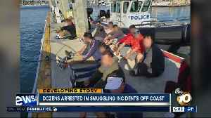 Dozens arrested in smuggling incidents of San Diego's coast [Video]