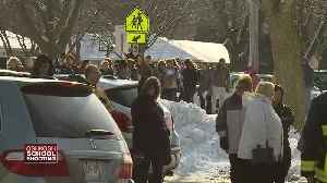 Parents wait in long line to reunite with students after shooting at Oshkosh West High School [Video]