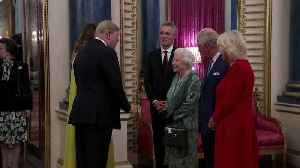 Donald and Melania Trump attend Queen Elizabeth's reception at Buckingham Palace [Video]