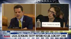 News video: Gaetz Fires Back At Impeachment Witness Saying 'You Don't Get To Interrupt Me'