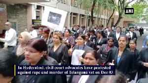 Advocates protest against Hyderabad rape murder case [Video]
