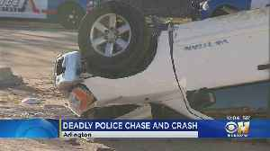 Pickup Theft Suspect Killed After Hitting Pole During Police Pursuit In Arlington [Video]