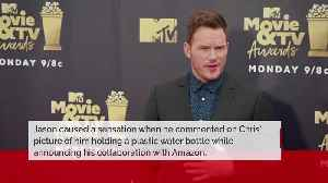 Jason Momoa calls out Chris Pratt for posing with plastic water bottle [Video]