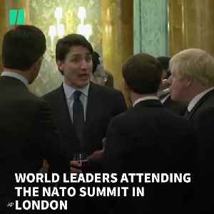 News video: World Leaders Appear To Gossip About Trump With Princess Anne