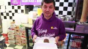 News video: A British chippy is serving the world's most calorific festive treat - a deep fried Christmas PUDDING