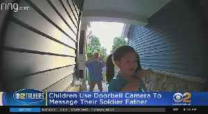 News video: Kids Use Doorbell Camera To Message Soldier Father