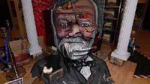 This stunning installation artwork celebrates the life of Scots industrialist Andrew Carnegie - and will be turned into a tradit [Video]