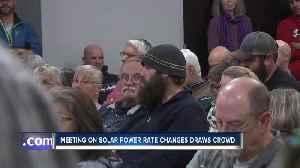 Meeting on solar power rates draws crowd [Video]