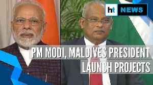 Watch: PM Modi, Maldives President jointly launch key projects in Male [Video]