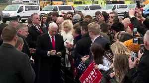 Vice President Mike Pence arrives in Michigan for bus tour and 'Keep America Great' rally [Video]