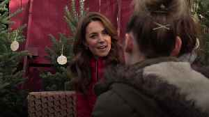 Kate gets into festive spirit with visit to Christmas tree farm [Video]