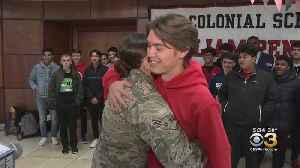Delaware Airman Comes Home To Surprise Brother At School For His Birthday [Video]