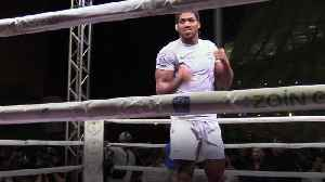 News video: Joshua: I'm not here to put on a show, I'm here to win