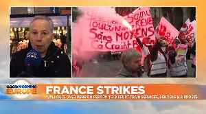 France to come to a standstill on Thursday as 90% of trains and 20% of flights cancelled in strike [Video]