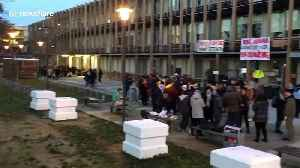 Students blockade university in France during country's strike [Video]