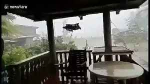 Typhoon Kammuri leaves path of destruction as strong winds batter the Philippines [Video]