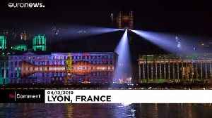 Artists shine a spotlight on climate concerns at Lyon's light festival [Video]