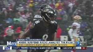 49ers suspend analyst over 'dark skin' remarks about Ravens' Lamar Jackson [Video]