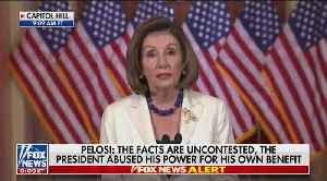 News video: Pelosi calls for articles of impeachment against Trump