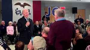 'Get your words straight!': Biden spars with Iowa voter [Video]