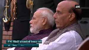 PM Modi, Rajnath Singh attend home reception at Navy Chief residence [Video]