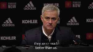 Jose Mourinho accepts former side deserved to win [Video]
