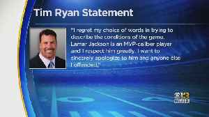 News video: 49ers Suspend Announcer Tim Ryan For Comment About Lamar Jackson