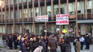 News video: Students blockade university in France during country's strike