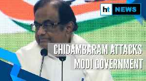 From J&K to economy: Chidambaram slams Modi govt in 1st presser post-bail [Video]