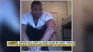 Officer McClain's alleged killer in court today [Video]