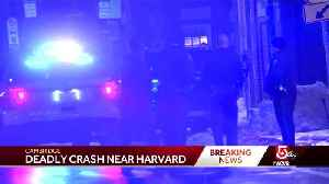 1 dead, 1 injured in crash near Harvard dorm [Video]