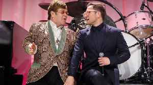 News video: Elton John gave Taron Egerton a drag name