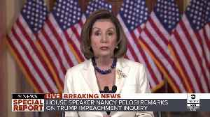 News video: 'The President leaves us no choice': Pelosi asks for articles of impeachment against Trump