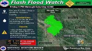 Flash Flood Warning In Effect For Kincade Burn Area [Video]