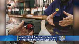 Nearly 1,000 People Applied To Purchase A Firearm In Maryland Last Week [Video]