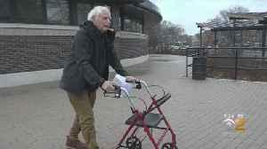 Senior Pushing For Handicap Parking At Community Center [Video]