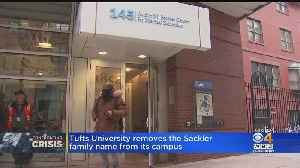Tufts University Renews Name Of Family Behind OxyContin From Medical School [Video]