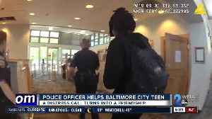 Police officer helps Baltimore City teen [Video]