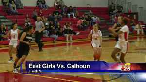 East Girls Basketball Wins Big In District Opener [Video]