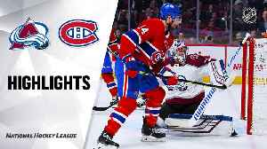Montreal Canadiens vs. Colorado Avalanche - Game Highlights [Video]