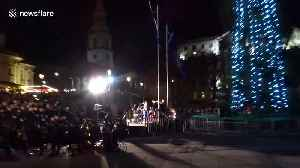 Lord Mayor of Westminster defends 'sparse' Trafalgar Square Christmas tree at switch-on ceremony after gift from Norway crit [Video]