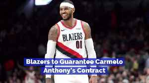 Carmelo Anthony's Contract Is Being Amended [Video]