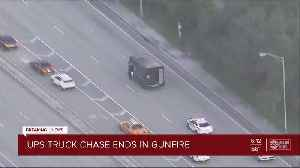 Police chase involving UPS truck ends in shooting in South Florida [Video]