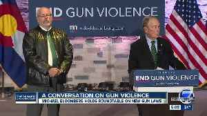 News video: Michael Bloomberg unveils anti-gun violence policy at Aurora town hall